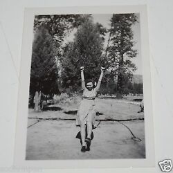WOW Vintage Girl on Playground Rings Black amp; White 1940s Photo Photograph $11.99