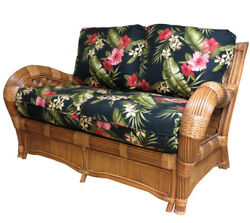 Kingston Reef Indoor Natural Rattan and Wicker Loveseat by Spice Island Wicker
