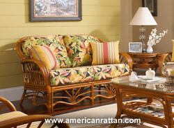 Rattan Man Palm Harbor Indoor Rattan and Wicker Loveseat by American Rattan
