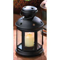 Lot of 5 Black Colonial Style Candle Lantern Floral Display WEDDING Centerpiece