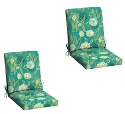 Red Floral Patio Cushion Set of 2 Outdoor Chair Replacement Furniture YardGarden