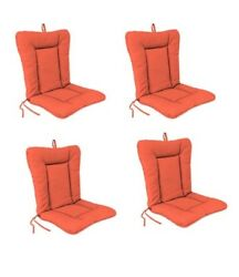 Orange Outdoor Patio Dining Replacement Chair Cushion Set of 4  Garden Pool