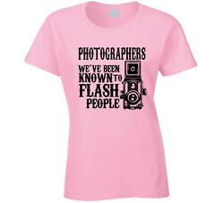 Photographers Flash People Women#x27;s T Shirt Funny Cute Novelty Clothing Tee Top $15.47