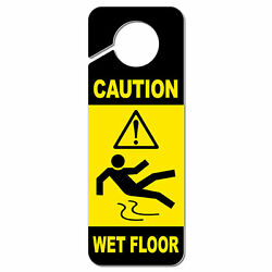 Caution Wet Floor Plastic Door Knob Hanger Sign $5.99