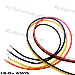 25#x27; EACH RED BLUE BLACK YELLOW 100 ft 18 Ga AWG Primary Remote Wire Lead $7.99