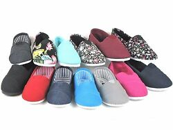 New Kids Boys Girls Simple Canvas Slip On Shoes Flats Loafers 13 Colors Size 9 4 $12.95