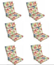 Replacement Patio Cushions Set of 6 Floral Outdoor Thick Chair Cushion Pad