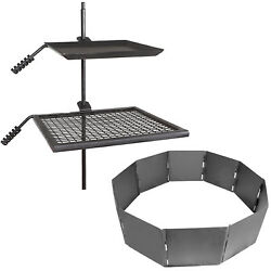 Titan Campfire Adjustable Swivel Grill Cooking Grate Griddle 40