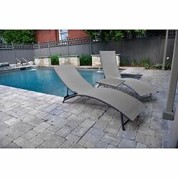 3 Piece Cocoa Midtown Aluminum Patio Lounger Outdoor Garden Deck Poolside Chair