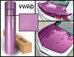 Purple carbon hi gloss tech art laminated vinyl car wrap 50ft x 5ft 3 layer DIY