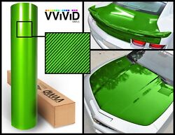 Green carbon hi gloss tech art 30M x 1.52M VV9 laminated vinyl car wrap