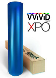 Blue Satin Chrome vehicle vinyl car wrap 100ft x 5ft film VViViD XPO sheet roll