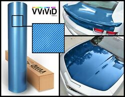 Blue carbon hi gloss tech art 3 layer laminated vinyl car wrap 15M x 1.52M VV9