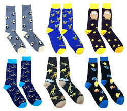 FINE FIT NOVELTY FUNNY CUTE ANIMALS KNIT ALL OVER PRINT TUBE CREW SOCKS RETRO $9.95