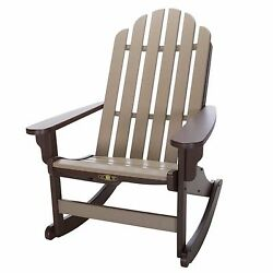 Chocolate Weatherwood Outdoor Garden Deck Pool Adirondack Rocker Rocking Chair