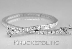 10.00ct Diamond Line Bracelet Princess Cut F Colour VS 18ct White Gold Tennis
