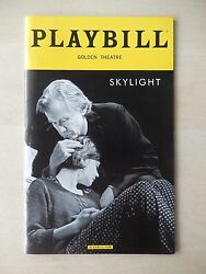 May 2015 - Golden Theatre Playbill - Skylight - Carey Mulligan - Bill Nighy