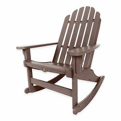 Brown Durawood Outdoor Veranda Porch Pool Adirondack Rocker Rocking Chair Seat