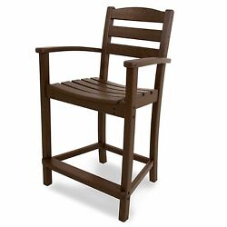 Brown Outdoor Home Yard Patio Furniture Decor Counter Armchair Arm Chair Seat