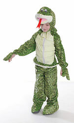 Childrens Snake Fancy Dress Costume 128Cm Jungle Book Reptile Animal Outfit New