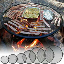 Sunnydaze X-Marks Fire Pit Cooking Grill Durable Steel - Multiple Sizes