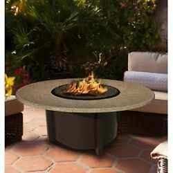 California Outdoor Concepts 5010-BR-PG11-SUN-48 Carmel Chat Height Fire Pit-B...