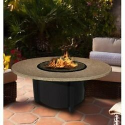 California Outdoor Concepts 5010-BK-PG3-SUN-48 Carmel Chat Height Fire Pit-Bl...