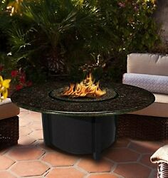 California Outdoor Concepts 5010-BK-PG1-BM-42 Carmel Chat Height Fire Pit-Bla...