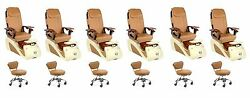 Alessi 5112 (CPO) Pedicure Chair Pack of 6  Free Stool & Curbside Delivery