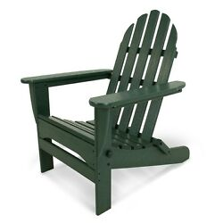 Durable Adirondack Green Plastic Folding Patio Chair Slat Home Garden Furniture