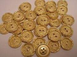 New Italian Gold Metal Buttons sizes 11 16 13 16 1 inch G18 $5.99