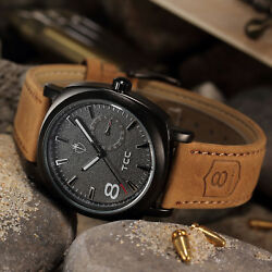 Hot Military Army Quartz Wrist Watch CURREN Mens Leather Strap Sport Fashion New $3.99