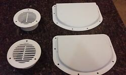 TRAILER SIDE WALL AIR VENTS - WHITE 2 inner 2 outer FREE FAST SHIPPING flow  $17.95