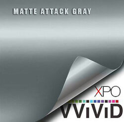 VViViD Matte Attack Gray vinyl wrap film sheet 3Mil sticker decal choose length