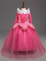 Sleeping Beauty Princess Aurora Party Dress kids Costume Dress #2 for girls $17.98