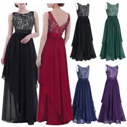 US Women Long Prom Dress Gown Party Evening Party Bridesmaid Cocktail Maxi Dress