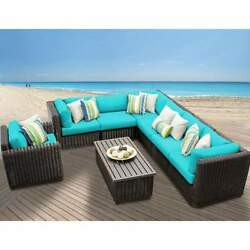 Miseno VENICE-08b-ARUBA 8-Piece Outdoor Furniture Set and Club Chairs