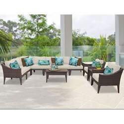 Miseno MANHATTAN-11a-BEIGE NYC 11-Piece Outdoor Furniture Sets and Club Chairs
