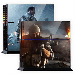 Skin Sticker Cover For PS4 Tuning Mapping Elaborated POP SKIN Battlefield #01