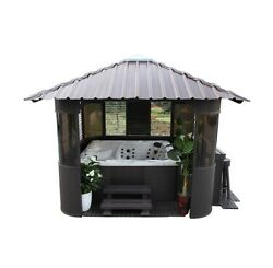 Outdoor Gazebo Canopy 10x10 Fraser Synthetic Wood Wedding Gifts Bar Stools Spa
