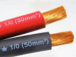 EXCELENE 1 0 AWG Welding Lead Cable Copper Wire MADE IN USA Black amp; Red $53.99