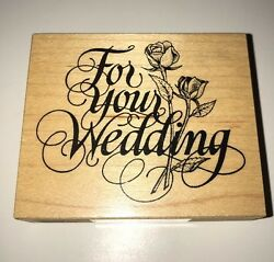 NEW PSX For Your Wedding G-146 Marriage Words Rose Flowers
