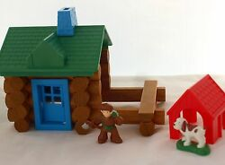 The General Store and Cabin -  Lincoln Logs plus many extra pieces build create