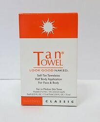 Tan Towel Half Body Towelettes Classic  Pack of 10 $14.99