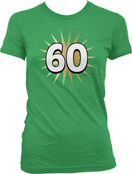 60 Gold Star Sixty Celebrate Birthday Milestone Age Party Juniors T shirt $9.88