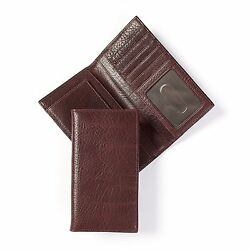 Leatherology Men's Vertical Front Pocket Wallet with ID Window - Italian Leather