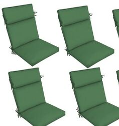 Green Outdoor Seat Cushion Set of 4 Replacement Dining Patio Chair Pad Furniture
