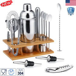 Cocktail Shaker Set Bar Accessories Kit Stainless Steel Bartender Martini Tools $25.99