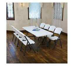 Folding Table And Chairs Set Game Commercial Picnic Card Conference Outdoor Play