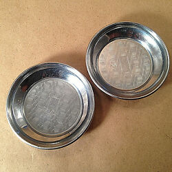 Art Deco Chromium Coasters Chase Brass & Copper Co 1930's Lot of 2